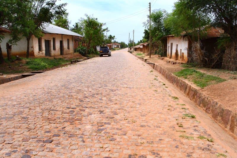 A rua na cidade de Ujiji (Tanzânia) fotografia de stock royalty free