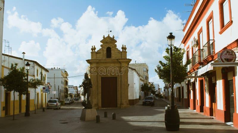 Rua na Espanha Jerez de la Frontera fotografia de stock