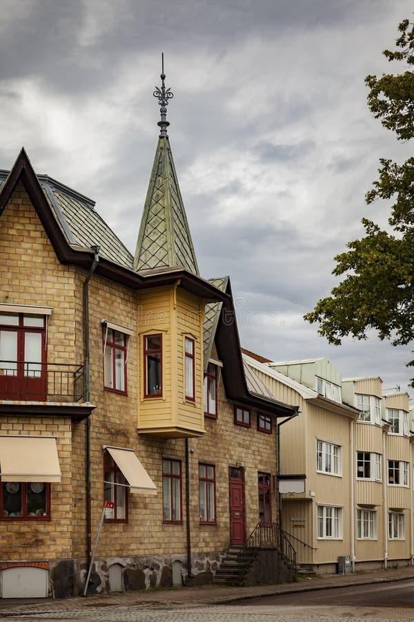 Rua na Suécia de Kungsbacka imagem de stock