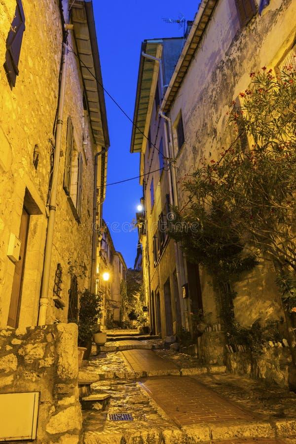 Rua no La Turbie em França fotografia de stock royalty free