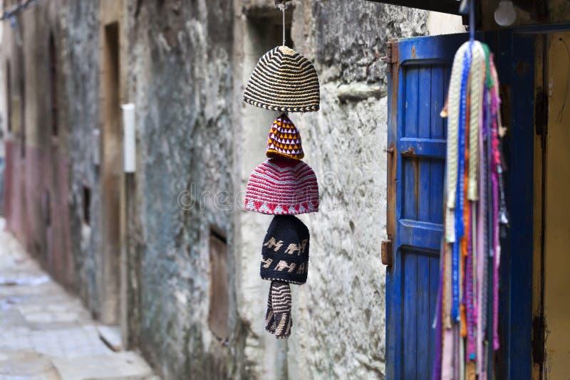 Rua no medina de Essaouira imagens de stock