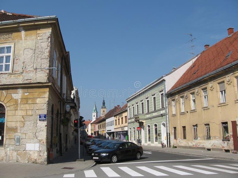 Rua no ruído do ¾ de VaraÅ imagem de stock