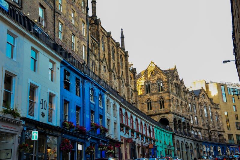 Rua ocidental da curva, Edimburgo fotos de stock