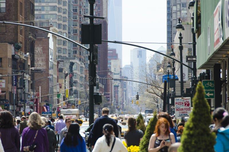 Rua ocupada de New York City fotos de stock royalty free