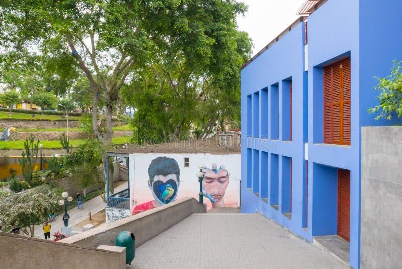 Rua pedestre Lima Peru do distrito de Barranco imagem de stock royalty free