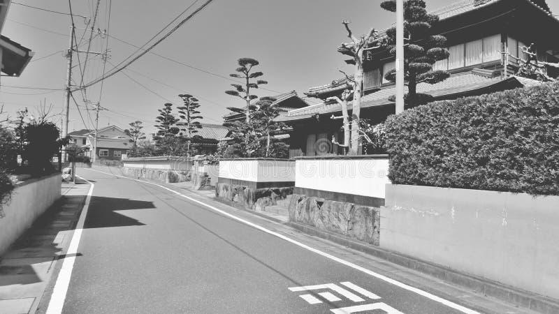 Rua preto e branco aleatória fotografia de stock
