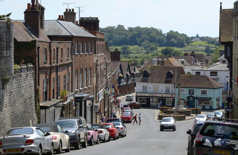 Rua principal de Arundel Sussex ocidental inglaterra imagens de stock