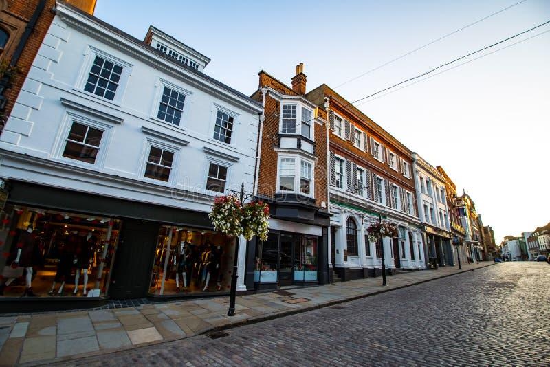 Rua principal Surrey Inglaterra de Guildford imagens de stock royalty free