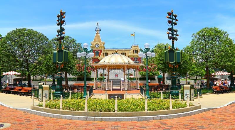 Rua principal, terra de Disney, Hong Kong fotos de stock royalty free