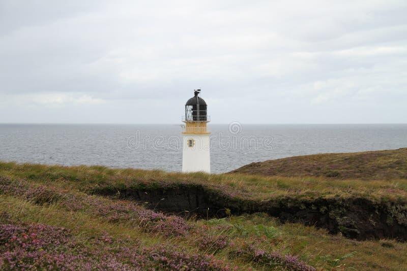 Rua Reidh Lighthouse in Gairloch stock photos
