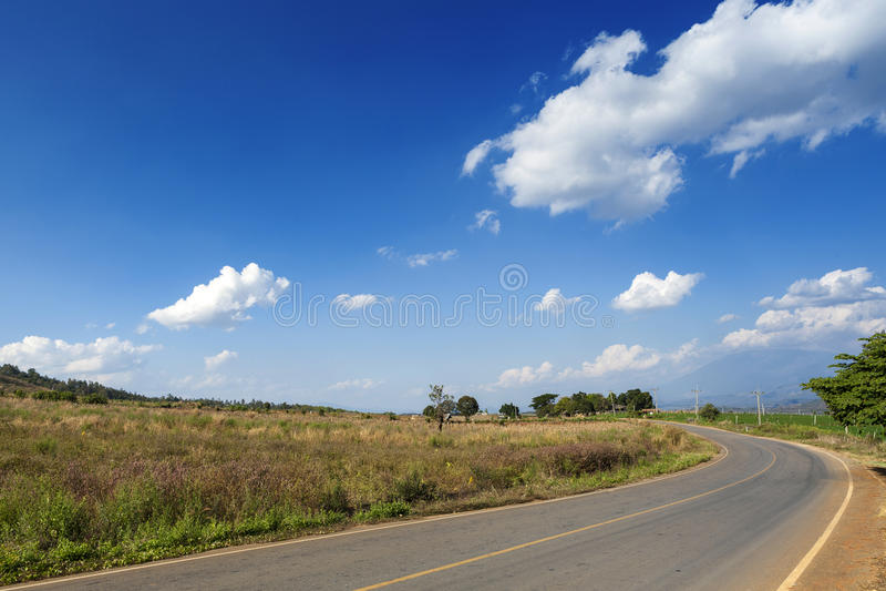 Rua rural imagens de stock