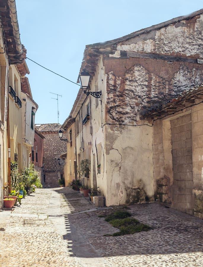 Rua rural em Lerma foto de stock