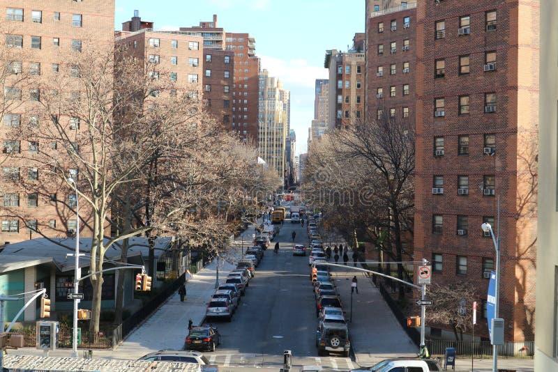 Rua secundária de New York fotografia de stock royalty free