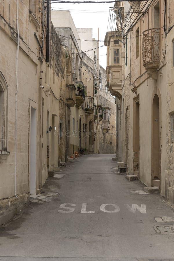 Rua secund?ria em Rabat Malta fotografia de stock royalty free
