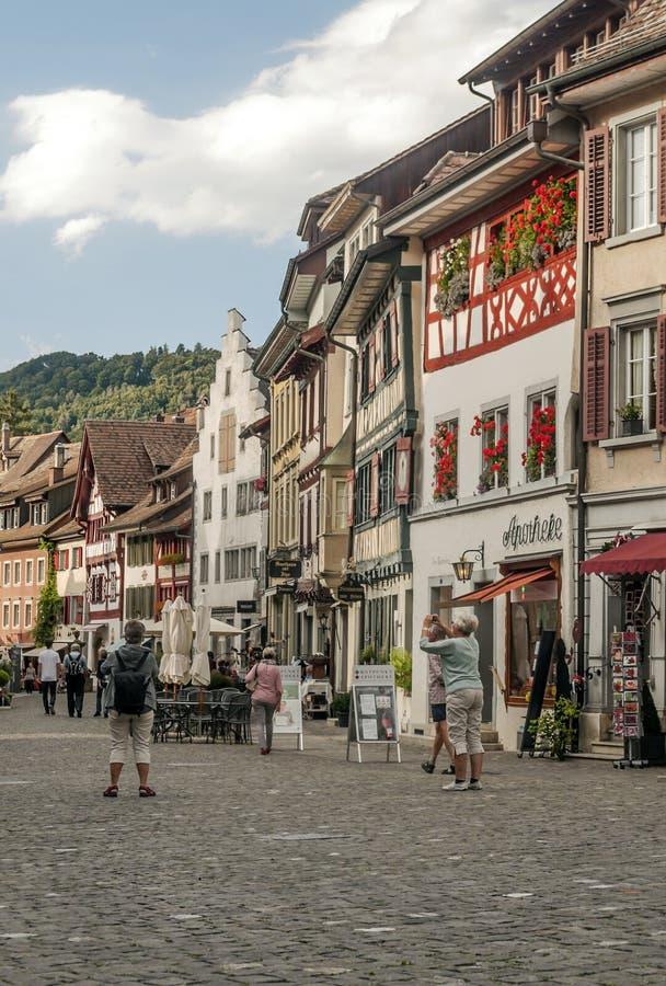Rua Stein am Rhein imagens de stock royalty free