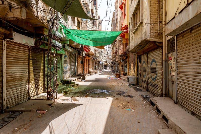 Rua Sukkur Bazaar 28 fotografia de stock royalty free