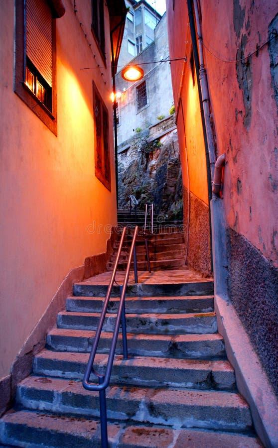 Rua típica em Vila Nova de Gaia fotos de stock royalty free