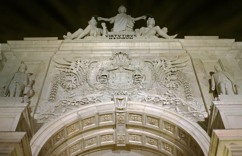 Rua trionfale Augusta Arch immagini stock