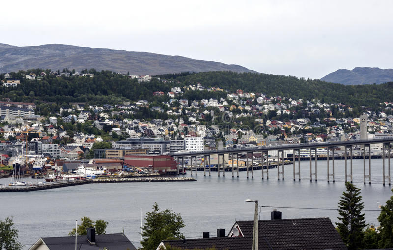 Rua Tromso fotos de stock