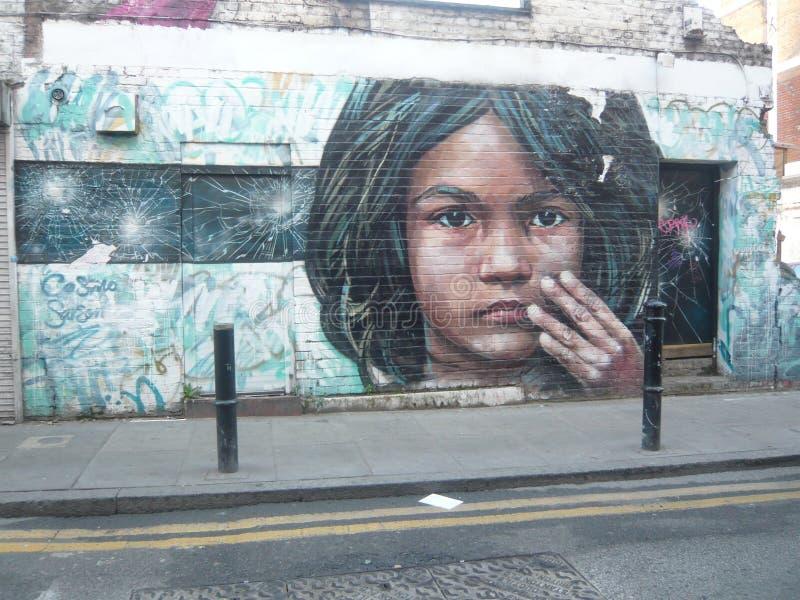 Rua urbana Art Graffiti de Londres foto de stock royalty free