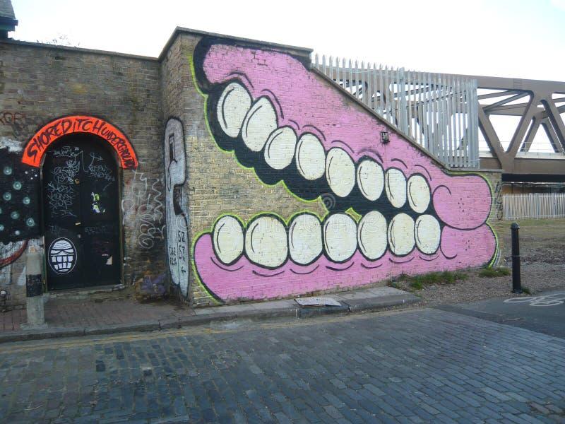 Rua urbana Art Graffiti de Londres fotografia de stock