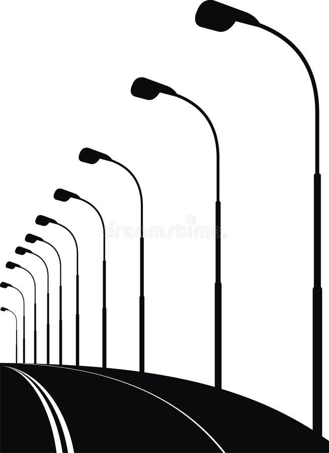Rua urbana da noite (ponte) ilustração do vetor