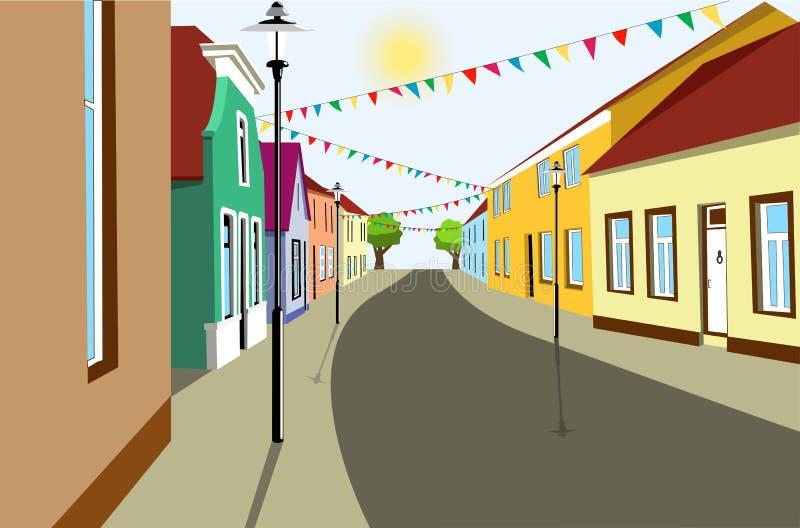Rua velha ilustração royalty free