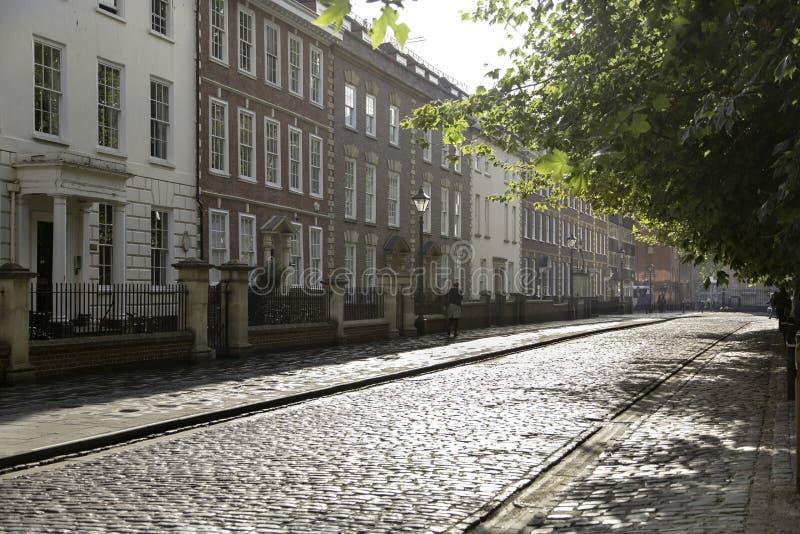 Rua velha da cidade fotografia de stock