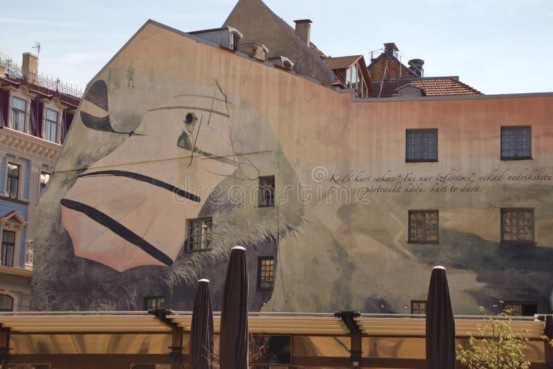 Rua velha da cidade de Riga Arquitetura em Riga latvia ilustração stock