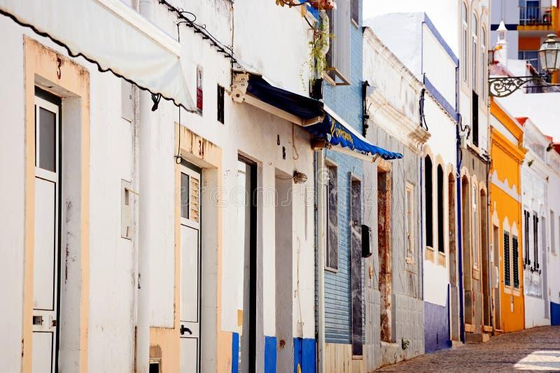 Rua velha da cidade, Lagos, Portugal imagens de stock