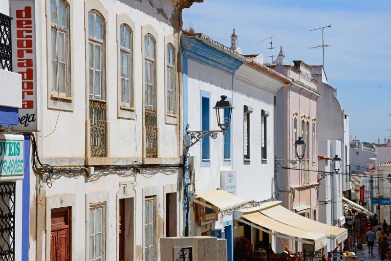 Rua velha da cidade, Lagos, Portugal imagem de stock royalty free