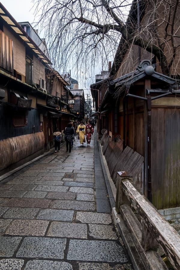 Rua velha de Gion fotos de stock royalty free