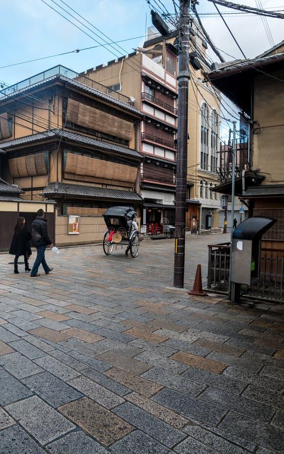 Rua velha de Gion imagens de stock