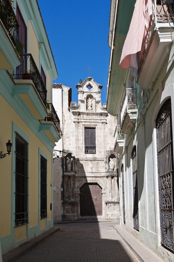 Rua velha de Havana imagem de stock