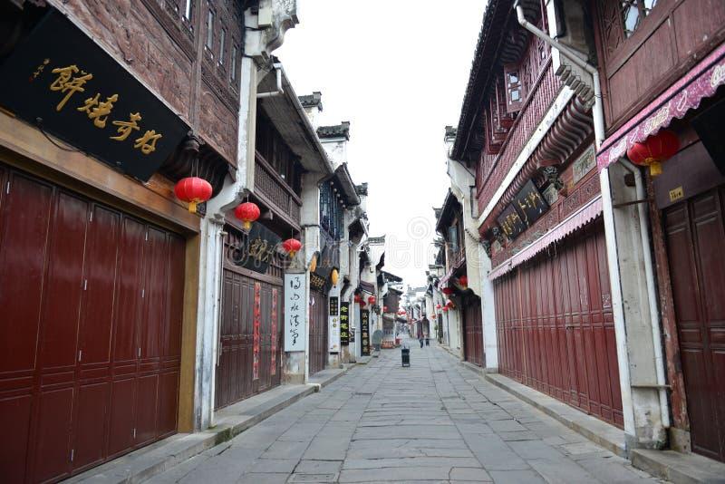 Rua velha de Tunxi imagem de stock royalty free