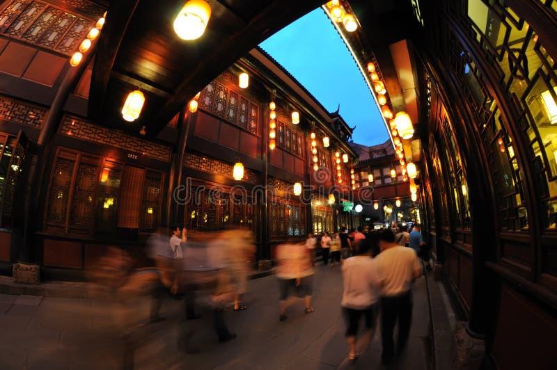 Rua velha do jinli de Chengdu fotografia de stock royalty free