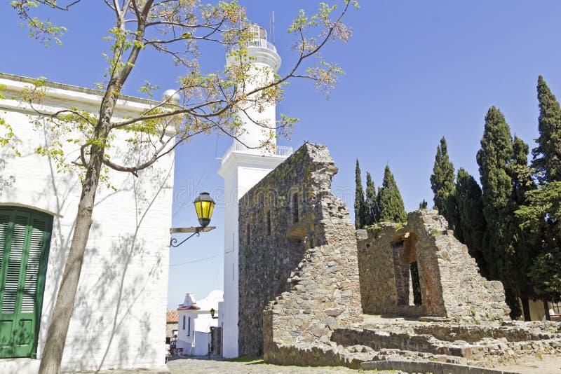 Rua velha em Colonia, Uruguai. imagem de stock royalty free