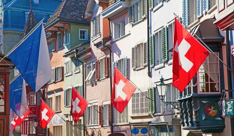 Rua velha em Zurique imagem de stock
