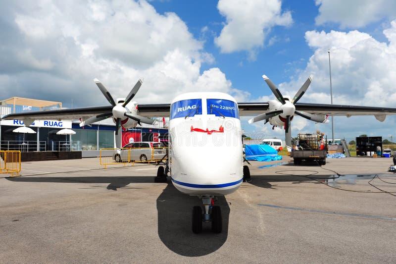 RUAG Dorner 228新一代短小在显示的起飞&着陆(STOL)航空器在新加坡Airshow 2012年 免版税图库摄影