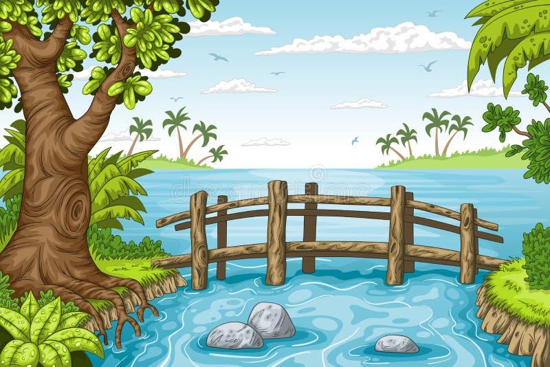 Rual Summer Landscape vector illustration