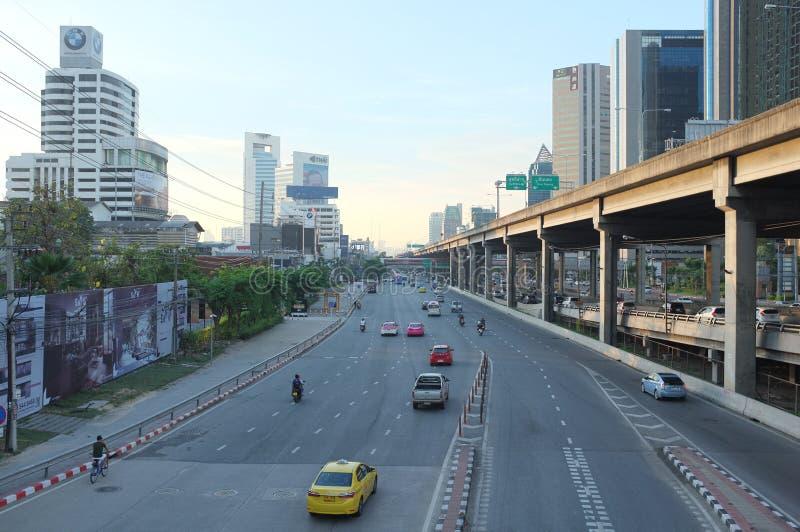 Ruas caóticas ocupadas de Banguecoque NÃO 2 foto de stock