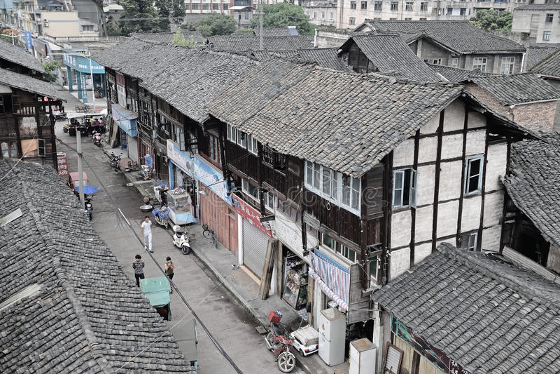 Ruas China-velhas de Yijing fotos de stock royalty free