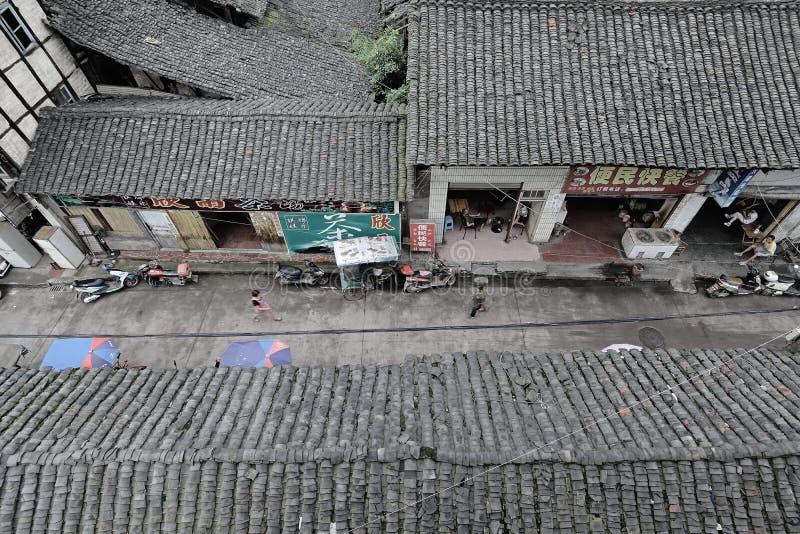 Ruas China-velhas de Yingjing fotos de stock