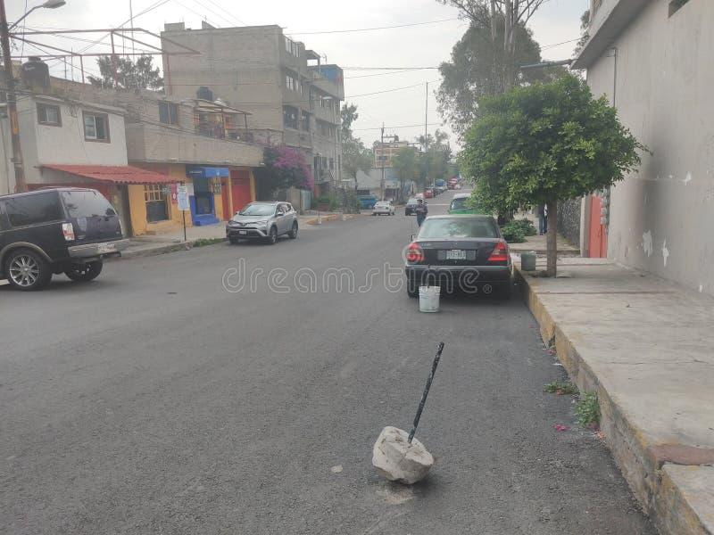 Ruas Coyoacan de Cidade do México fotos de stock
