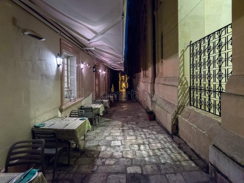 Ruas da cidade de Fira A ilha de Santorini Greece imagens de stock