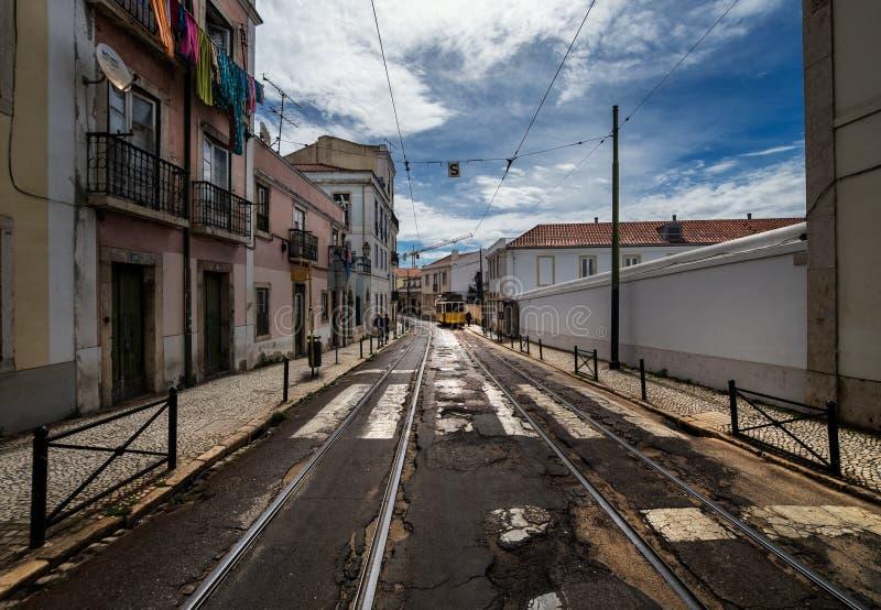 Ruas da cidade de Lisboa portugal imagem de stock