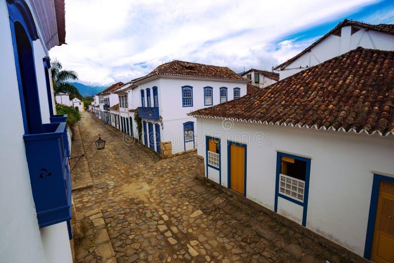 Ruas da cidade histórica Paraty Brasil fotos de stock
