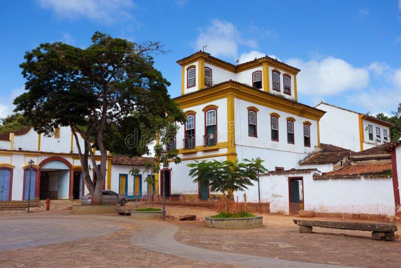 Ruas da cidade histórica Tiradentes Brasil imagens de stock royalty free