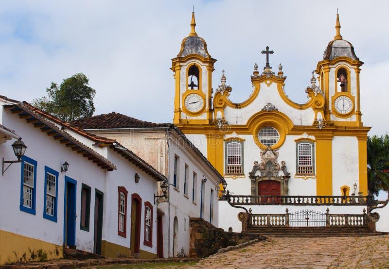Ruas da cidade histórica Tiradentes Brasil foto de stock