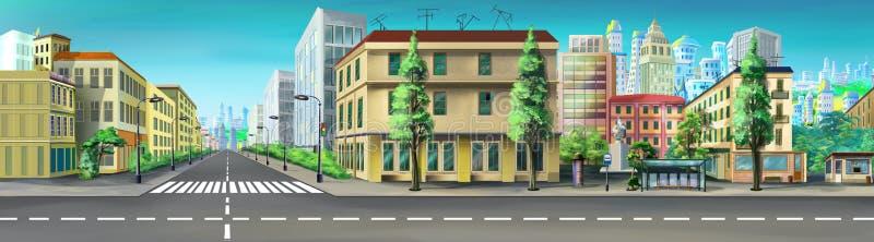 Ruas da cidade Imagem 04 ilustração do vetor